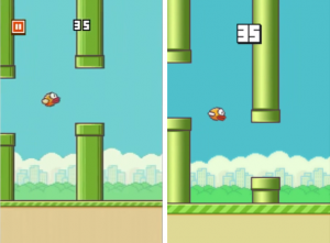 Graphical changes between version one and two.