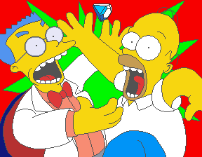 Smithers and Homer have an encounter in the intro sequence.